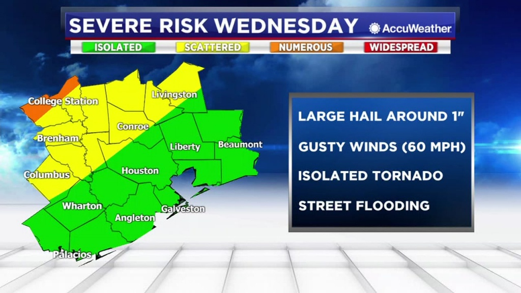 Houston Weather: Barry Brings Thunderstorm Chances This Weekend - Texas Windstorm Map Harris County