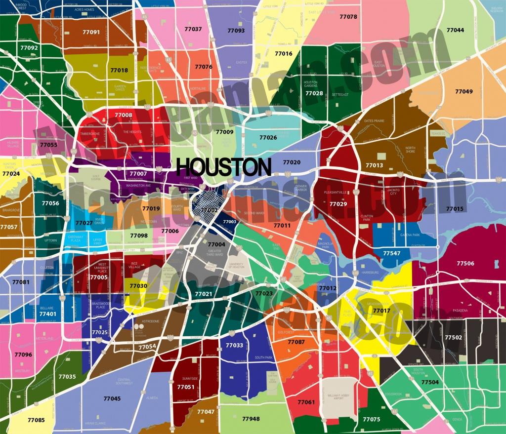 Houston Zip Code Map | Mortgage Resources - Houston Zip Code Map Printable