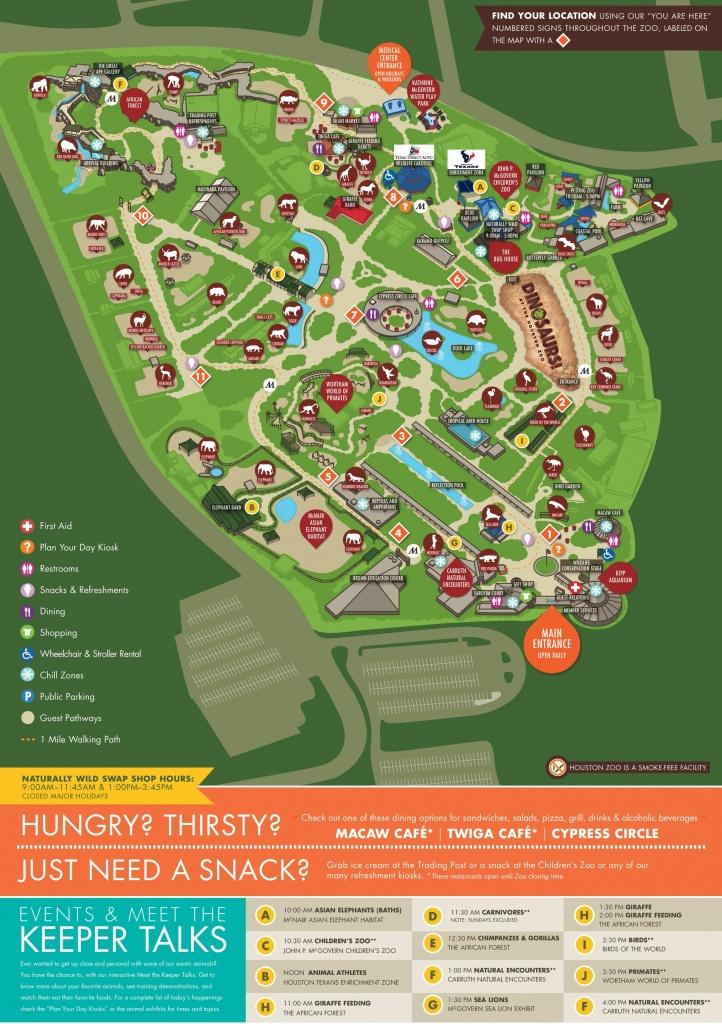 Houston Zoo Map - Show Map Of Houston Texas