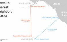 Map Of Hawaiian Islands And California