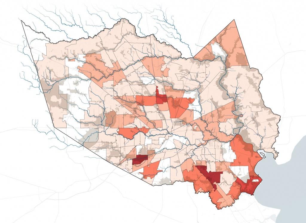 How Harvey Hurt Houston, In 10 Maps | Propublica - Houston Texas Flood Map