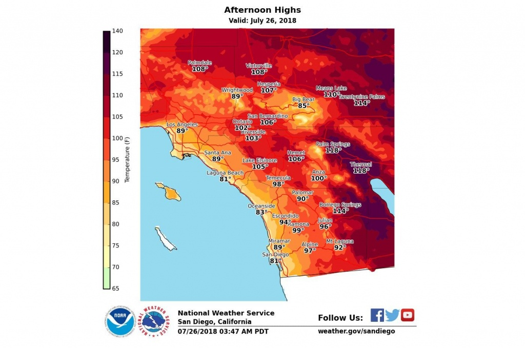 How Long Will Heat Wave Linger Over Southern California? – Orange - Weather Heat Map California