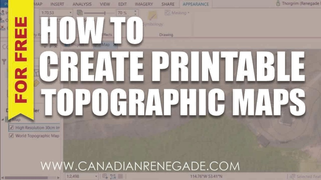 How To Create A Printable Topographic Map In Arcgis Pro - Youtube - Printable Topographic Maps