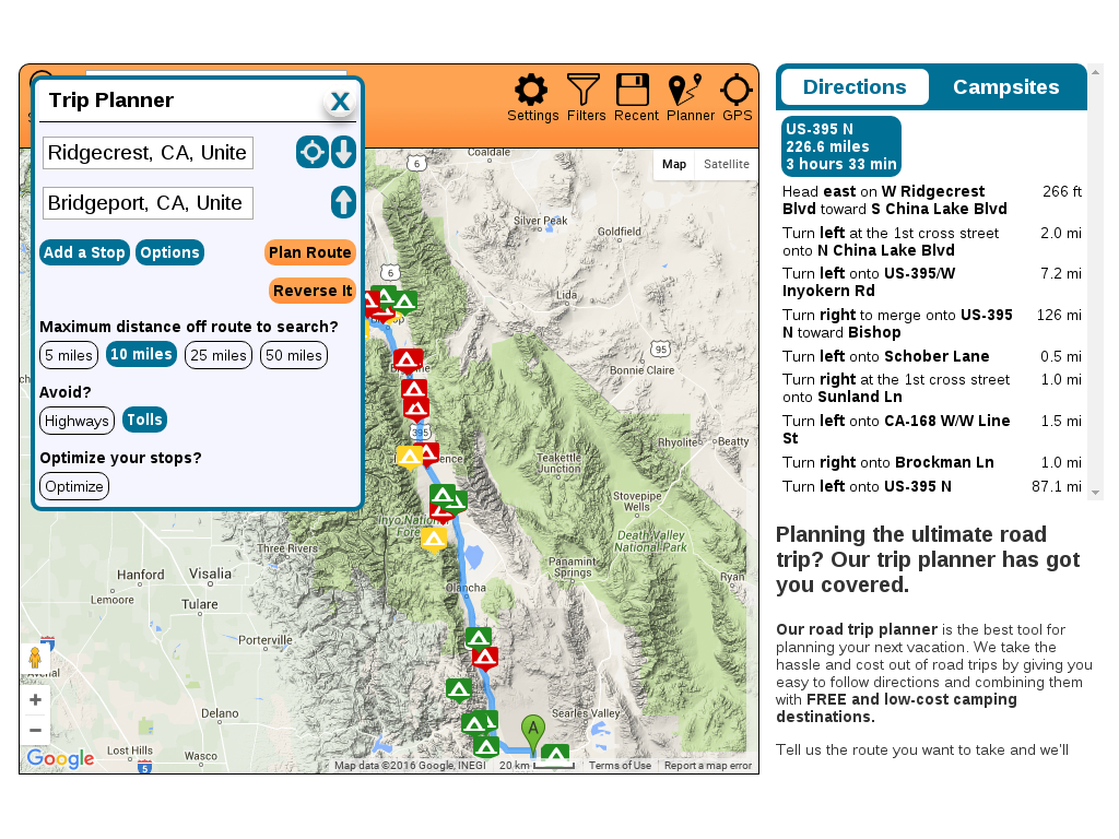 How To Find Free Camping - Freecampsites - Southern California Campgrounds Map