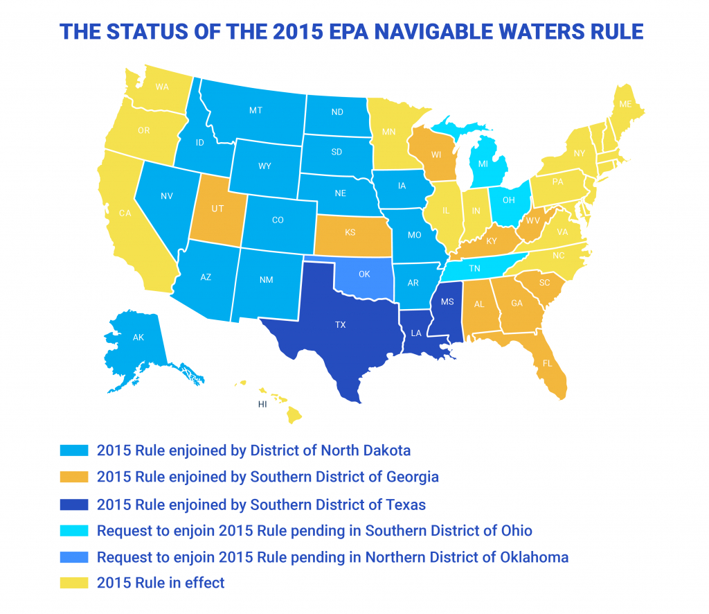 How To Find Out If The Epa's 'navigable Waters' Regulations Affect - Texas Navigable Waterways Map
