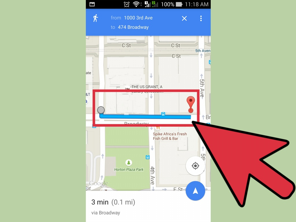 How To Get Walking Directions On Google Maps: 12 Steps - Printable Directions Google Maps