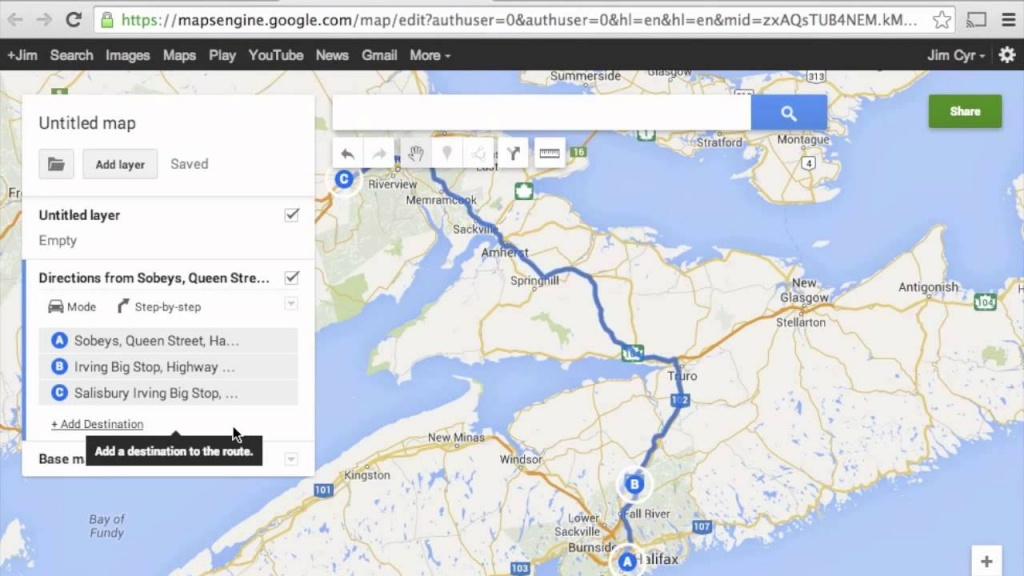 How To Import Google Maps Directions (Routes) To Garmin Basecamp - Garmin Florida Map