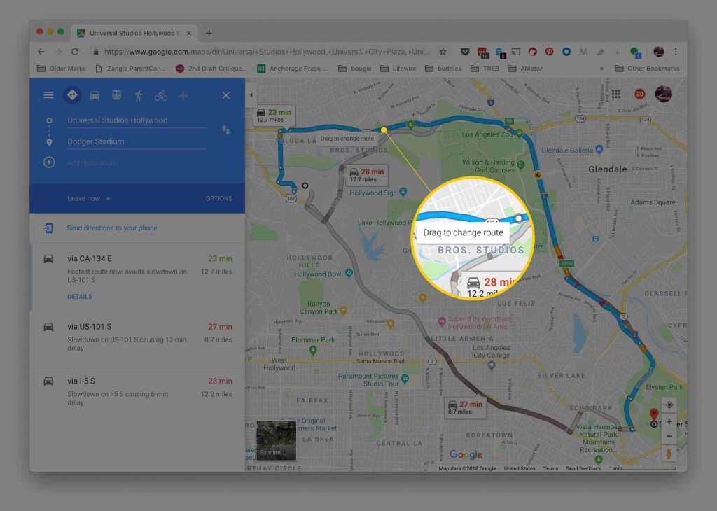 How To Plan An Alternate Route With Google Maps - Google Maps Florida Driving Directions