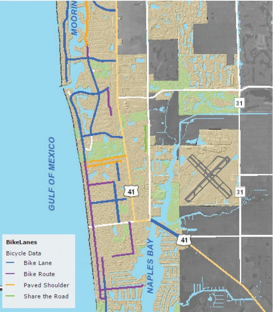 How To Stay Safe Bicycling - Where Are The Bike Lanes Naples Fl - Map Of Naples Florida Neighborhoods