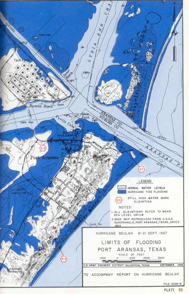 Hurricane Flood And Surge Maps - Map Of Port Aransas Texas Area
