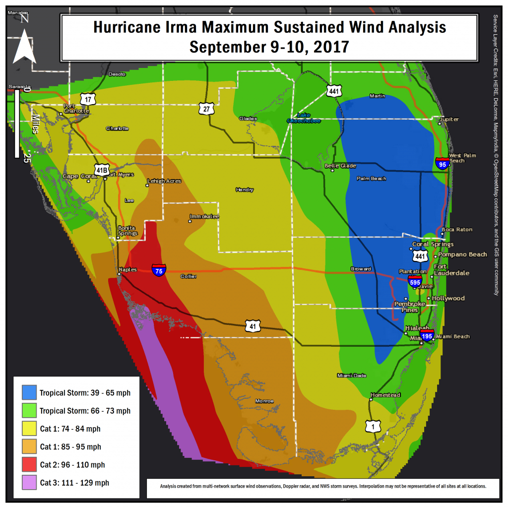 Hurricane Irma Local Report/summary - Miami Florida Radar Map