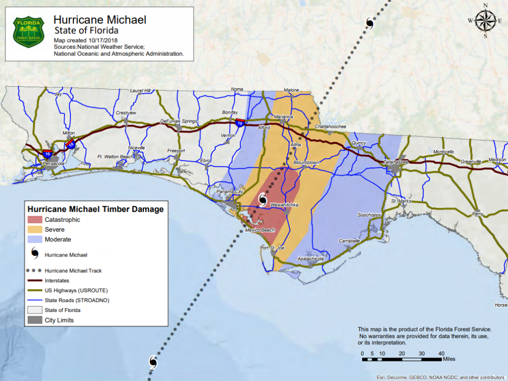 Hurricane Michael 2018 - Florida Hurricane Damage Map