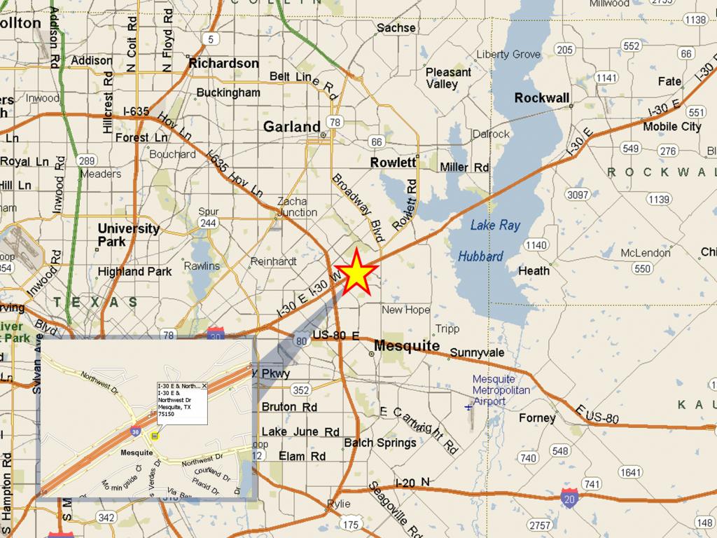 I-30 & Northwest Dr, Dallas, Tx | Slj Company, Llc - Mesquite Texas Map