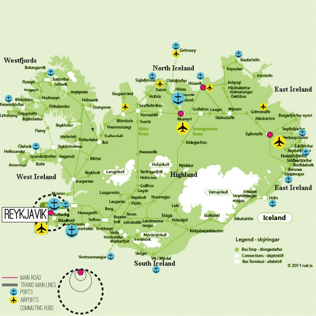 Iceland Map Printable And Travel Information | Download Free Iceland - Printable Road Map Of Iceland