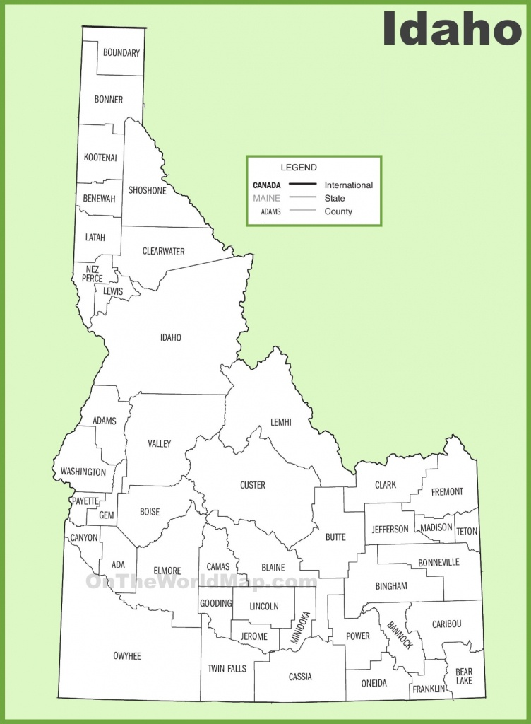 Idaho County Map - Printable Map Of Idaho