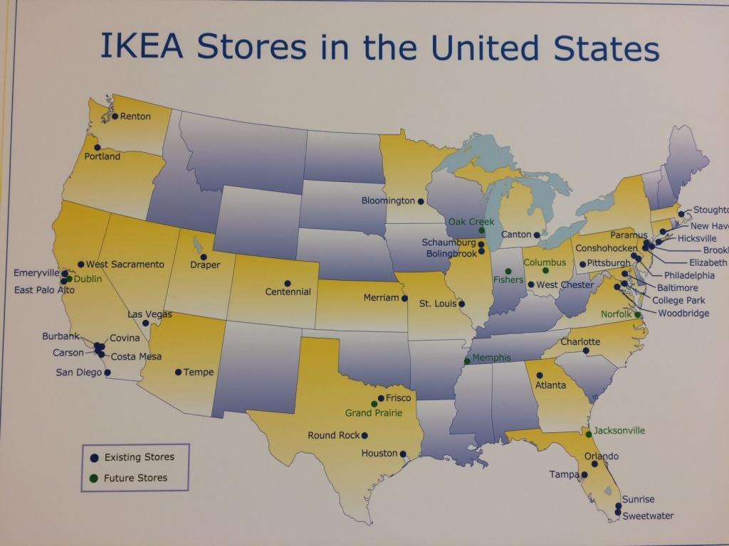 Ikea Usa Map | Woestenhoeve - Ikea Locations California Map
