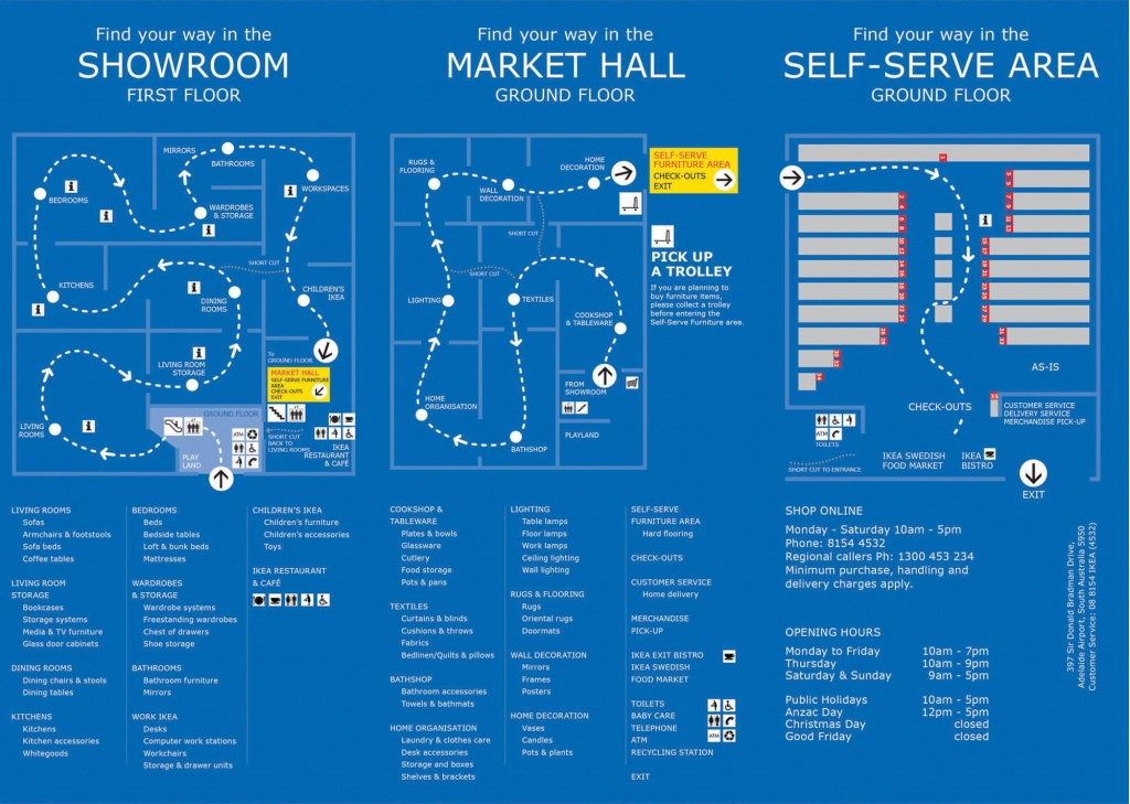 Ikea's Visual Map Of Their In-Store Customer Buying Journey - Ikea Locations California Map