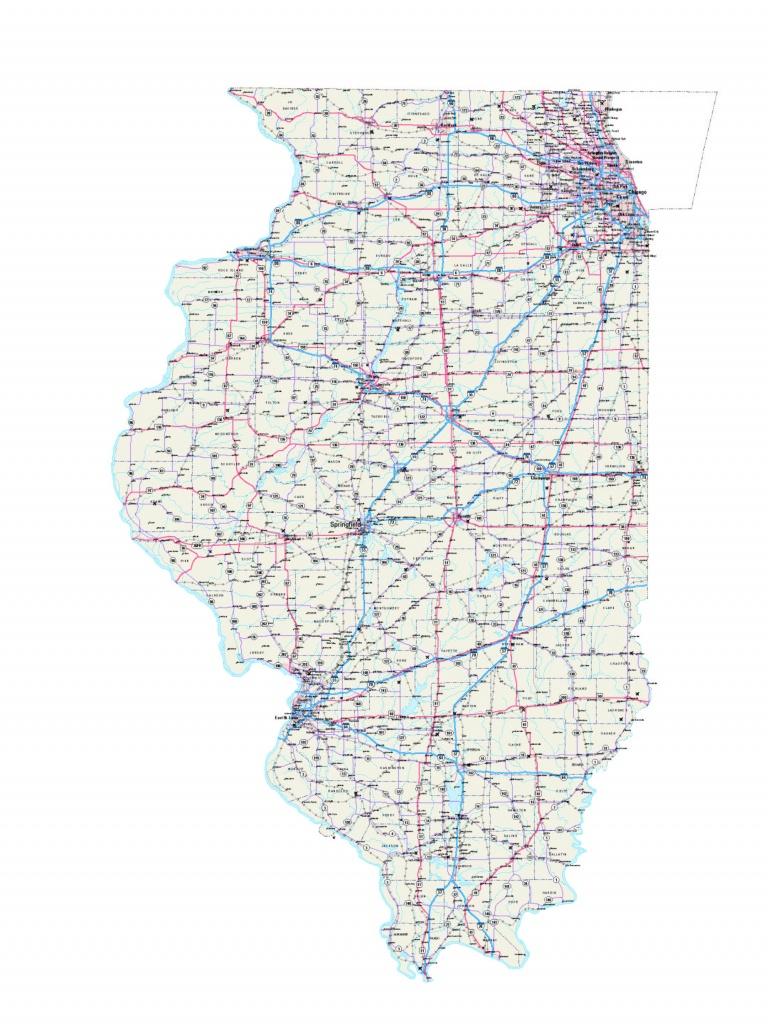 Illinois Maps - Illinois Map - Illinois Road Map - Illinois State Map - Illinois State Map Printable