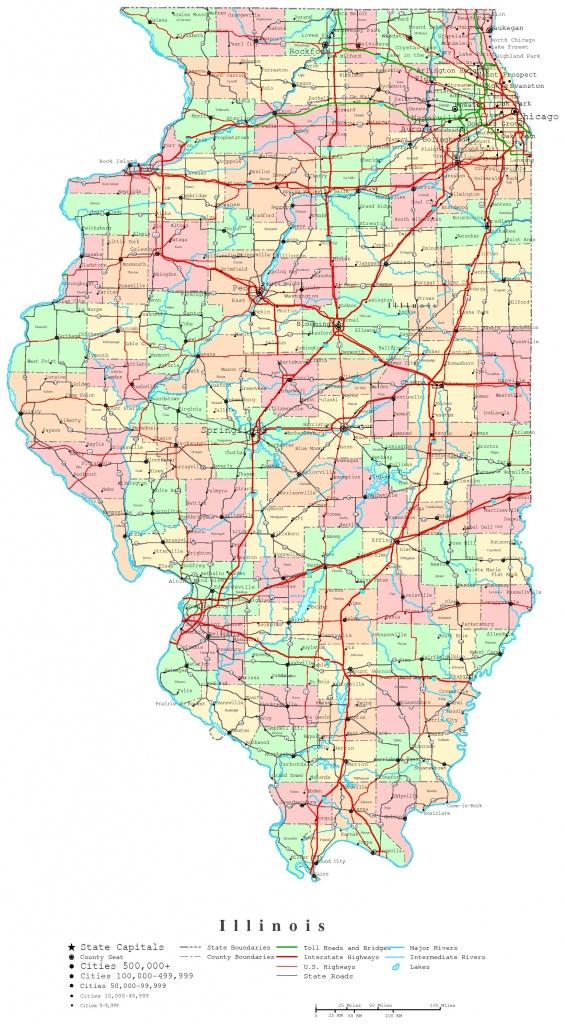 Illinois Printable Map - Illinois County Map Printable