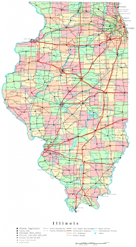 Illinois Printable Map - Printable Map Of Naperville Il