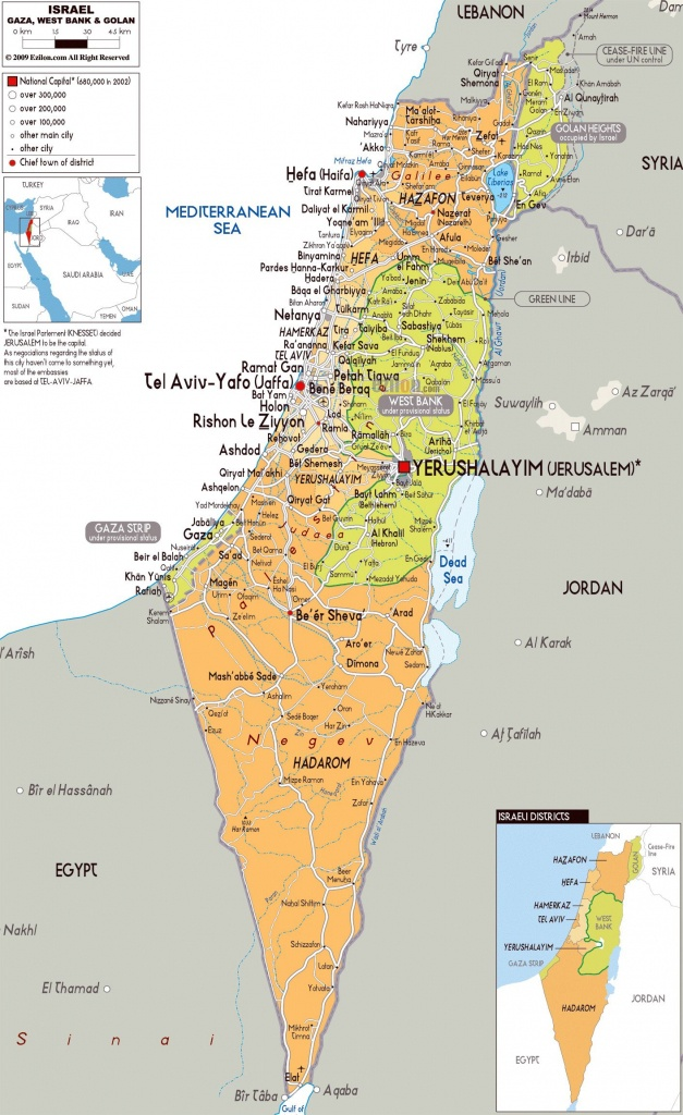Image Result For Printable Map Of Israel | Israel Map | Map, Israel - Printable Map Of Israel Today