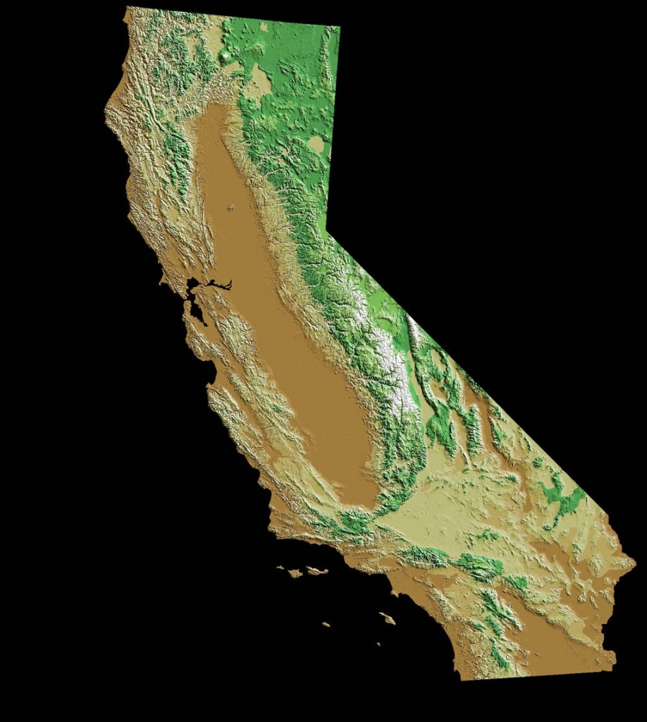 Image Result For Topographic Map California | Topography - Topo Map Of California