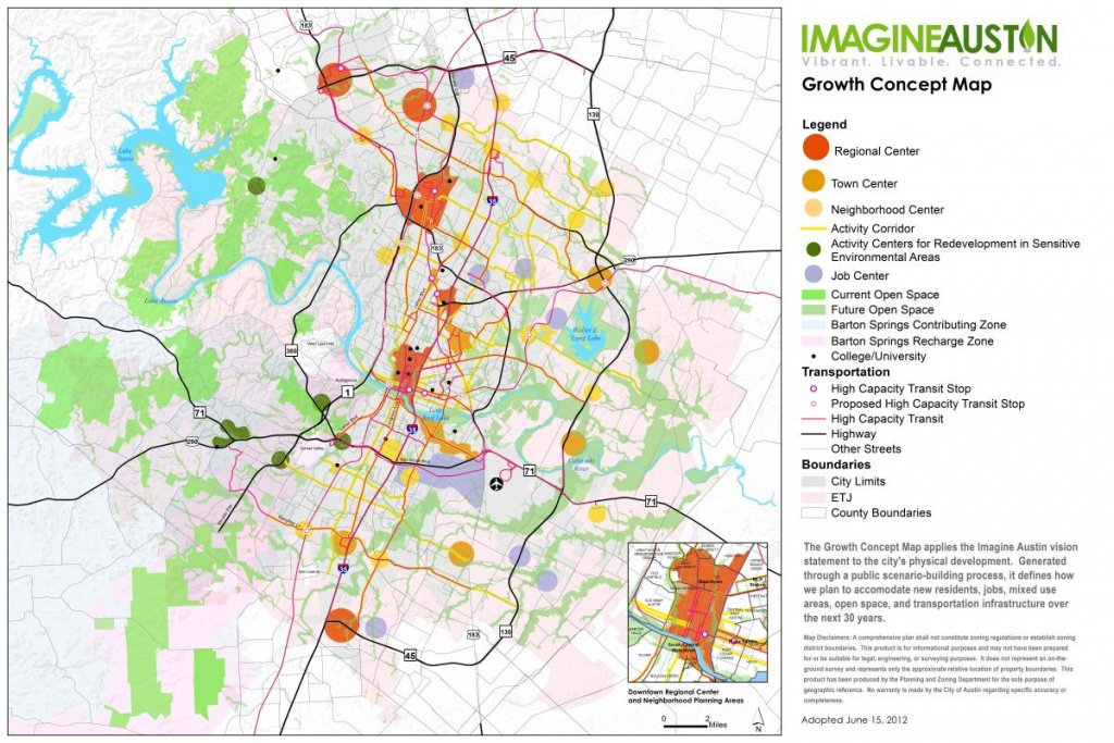 Imagine Austin Resources | Austintexas.gov - The Official Website Of - Austin Texas Map Downtown