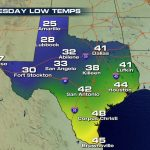 Increasing Snow Chances Forwest Texas?   Weathernation   Texas Weather Map Temps