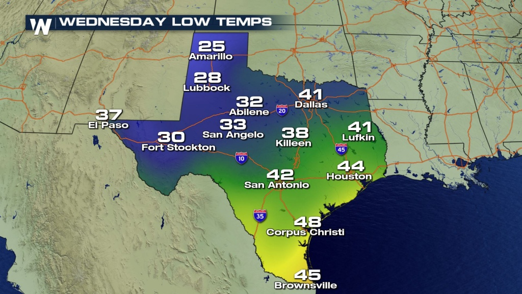 Increasing Snow Chances Forwest Texas? - Weathernation - Texas Weather Map Temps