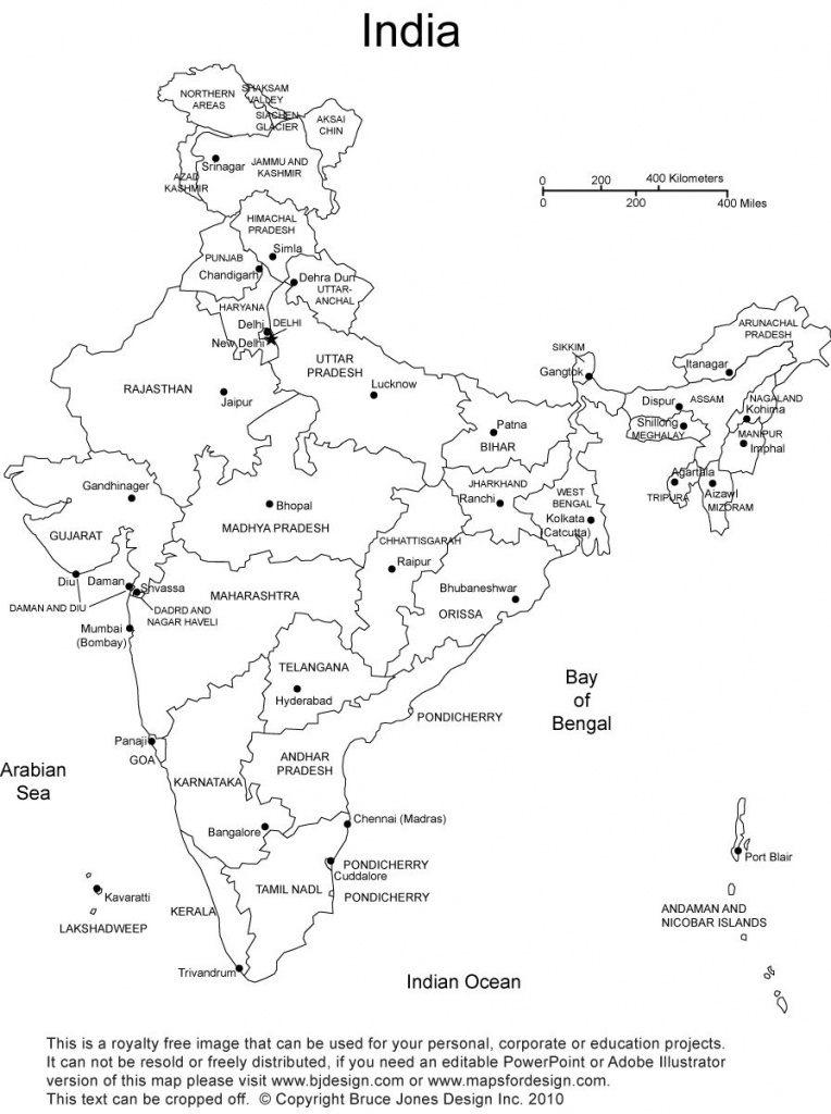 India Blank, Printable Map, Royalty Free, Clip Art | Country | India - Printable Map Of India