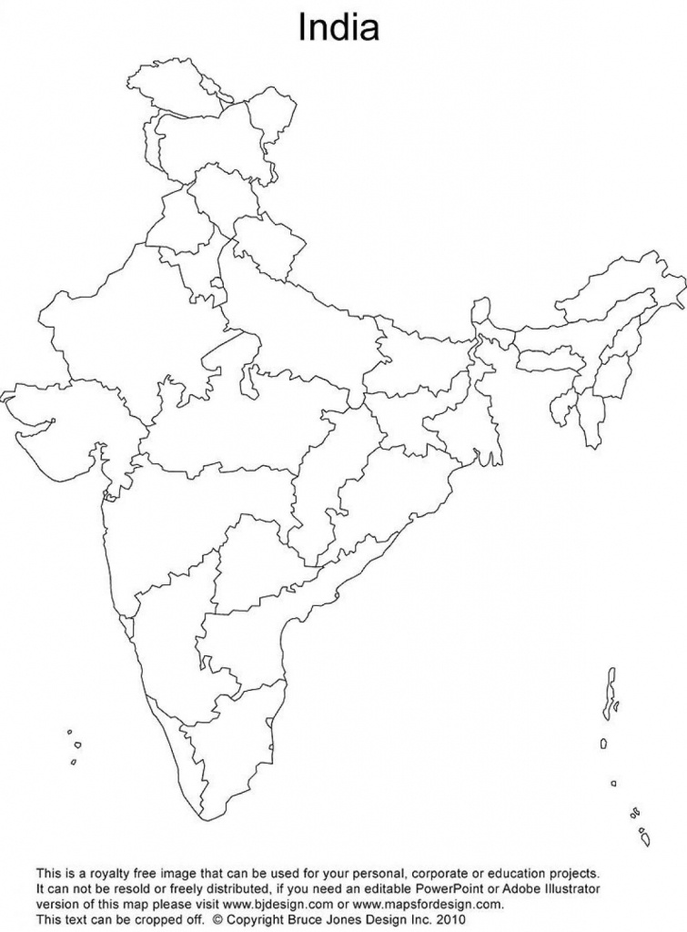 India Outline Map Printable | India Map | India Map, India World Map - India Outline Map A4 Size Printable