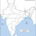 India Political Map In A4 Size   Map Of India Outline Printable