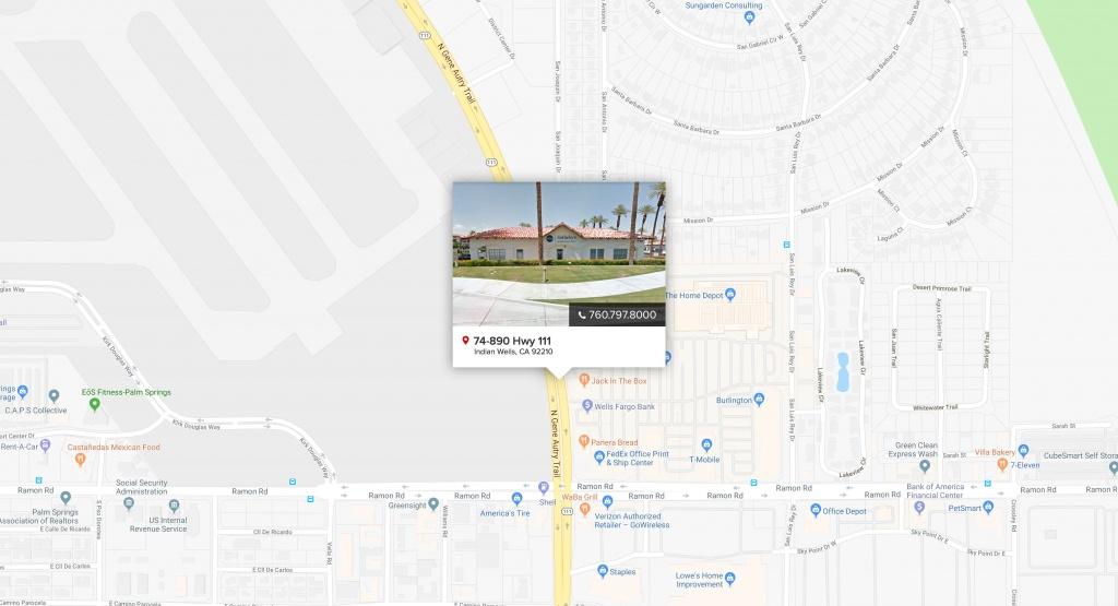 Indian Wells   Pacific Sotheby's International Realty - Indian Wells California Map
