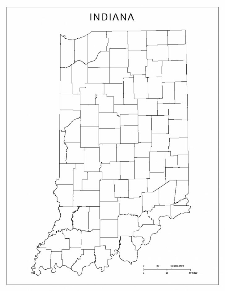 Indiana County Map Printable
