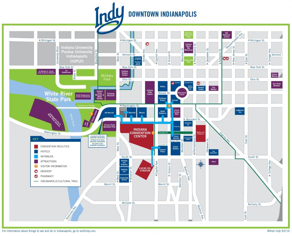 Indianapolis Downtown Map - Downtown Indianapolis Map Printable