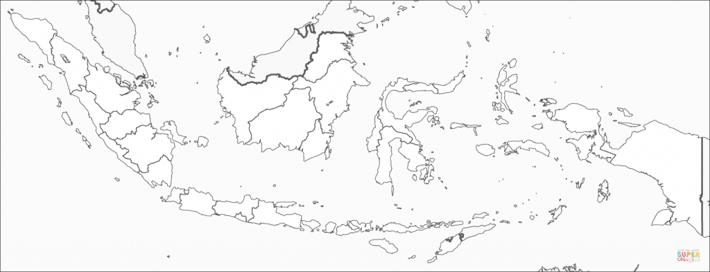 Indonesia Map Coloring Page   Free Printable Coloring Pages - Printable Map Of Indonesia