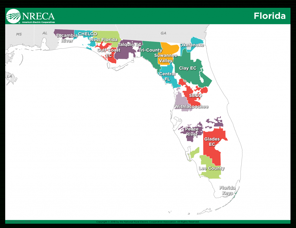 Information Hub: Electric Co-Ops And Michael - America's Electric - Power Outages In Florida Map