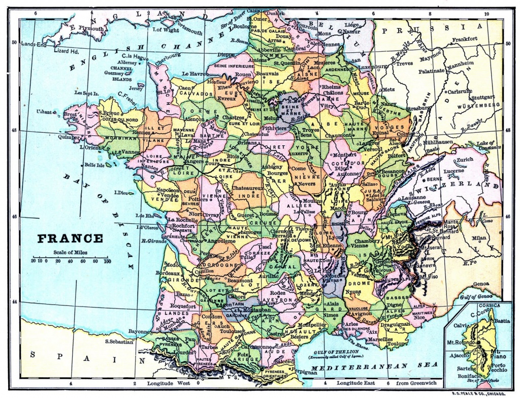 Instant Art Printable - Map Of France - The Graphics Fairy - Printable Map Of