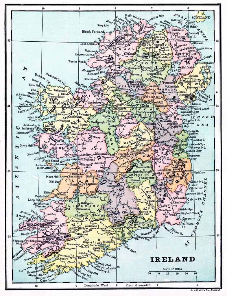 Instant Art Printable - Map Of Ireland - The Graphics Fairy - Printable Map Of Ireland