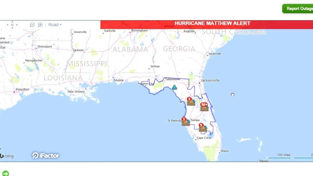 Interactive Live Map Shows Power Outages In Florida! - Power Outages In Florida Map