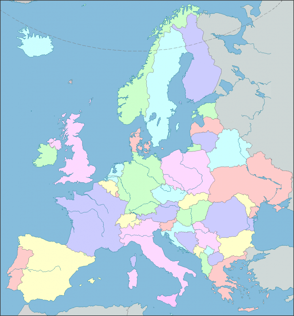 Interactive Map Of Europe, Europe Map With Countries And Seas - Europe Map Puzzle Printable