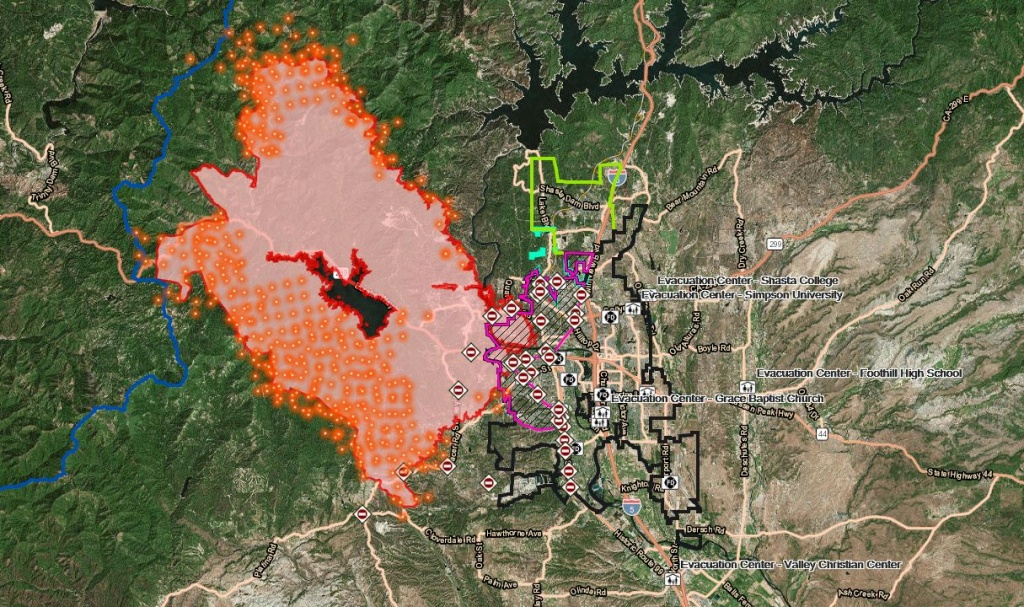 Interactive Maps: Carr Fire Activity, Structures And Repopulation - Redding California Fire Map