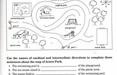 Intermediate Directions Worksheet | Graphic Design & Logos | Map – Free Printable Maps And Directions