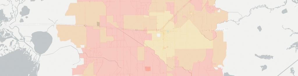 Internet In Winnie: See All 12 Internet Providers | Broadbandnow - Winnie Texas Map