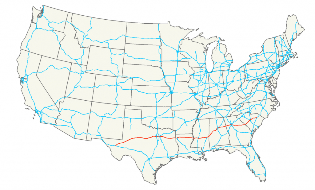 Interstate 20 - Wikipedia - Map Of I 95 From Florida To New York