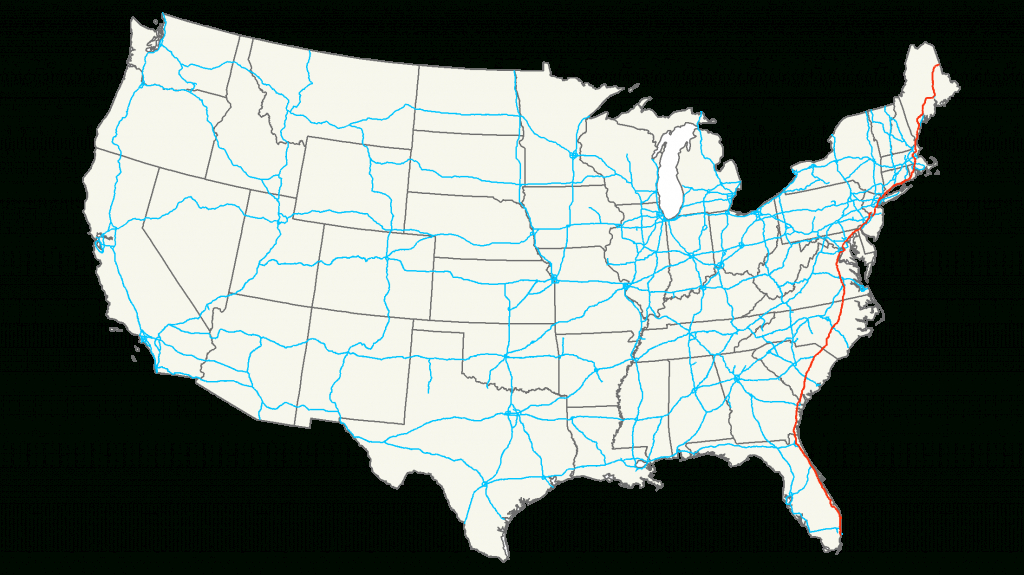 Interstate 95 - Simple English Wikipedia, The Free Encyclopedia - Map Of I 95 From Nj To Florida