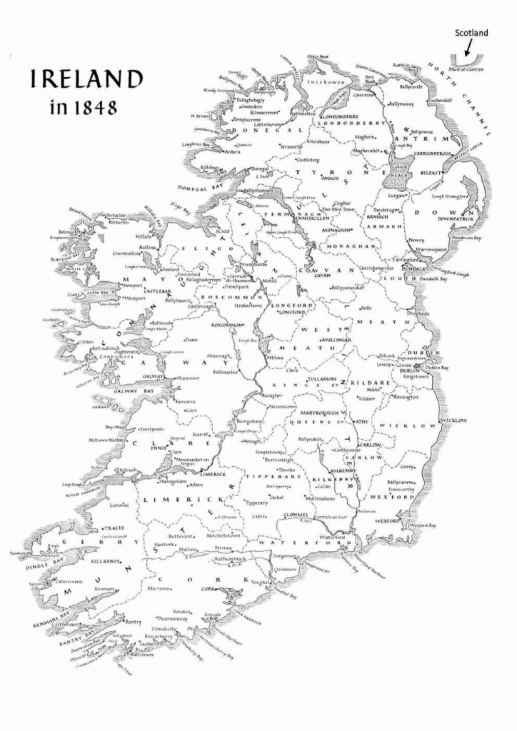 Ireland Geography - Basic Facts About The Island - Printable Map Of Ireland