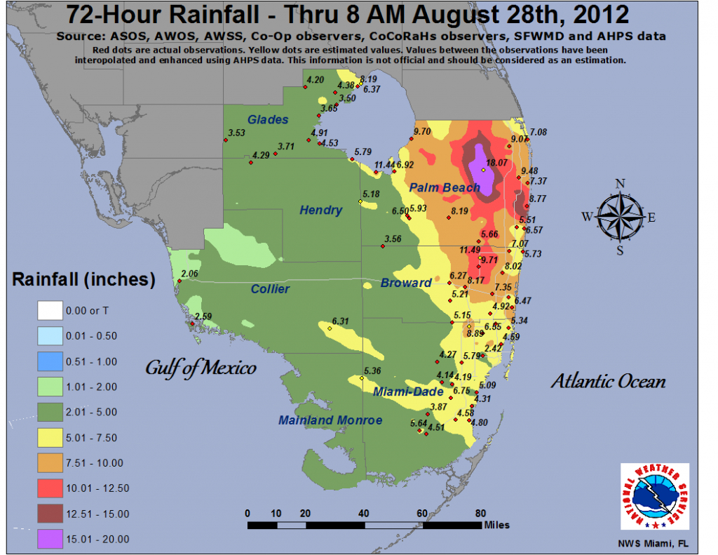Isaac - Flood Zone Map South Florida
