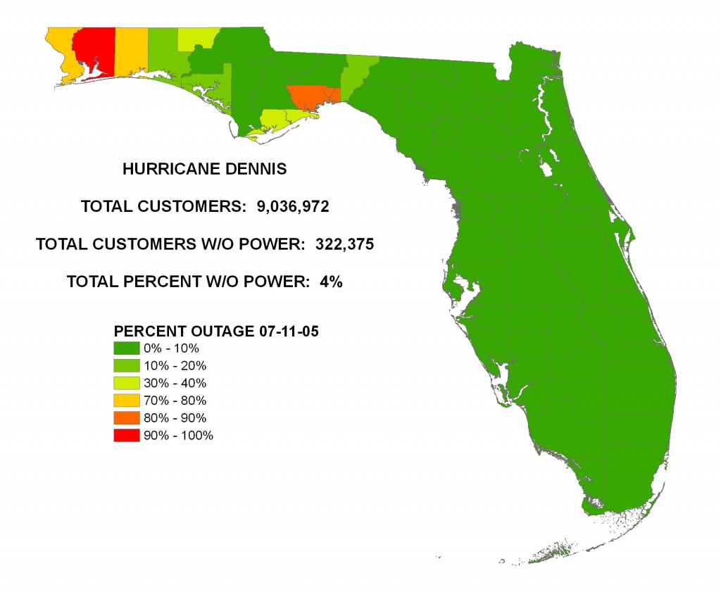 Iser - Hurricane Dennis - Florida Power Outage Map