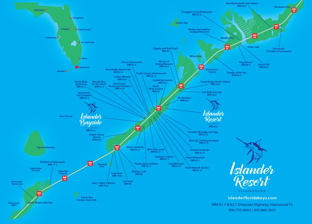 Islander Resort | Islamorada, Florida Keys - Map Of Florida Keys Hotels